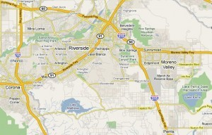 Cities moving map Riverside County