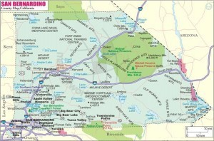 City moving map of San Bernardino County