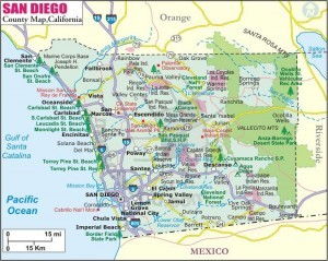City moving map for San Diego County